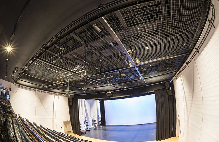 Tension Wire Grid Installation: Plymouth University Theatre
